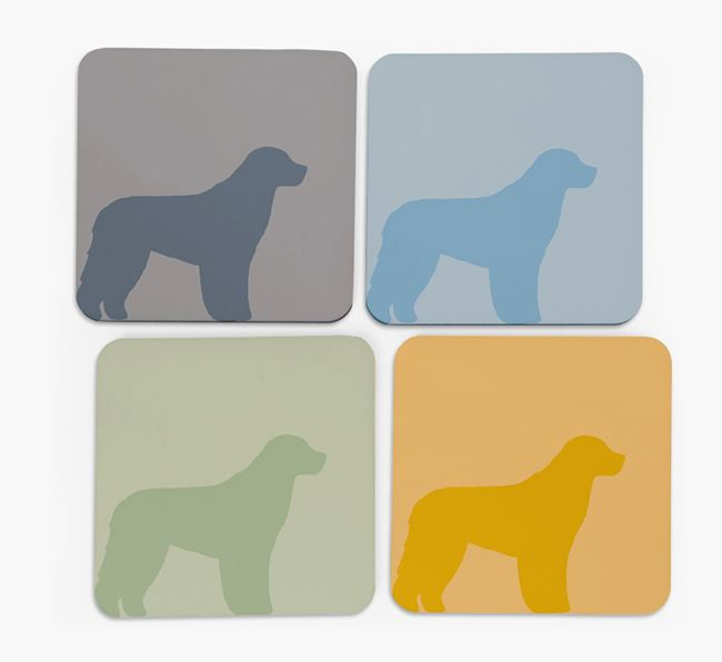 Aussiedoodle Silhouette Coasters 4 pack