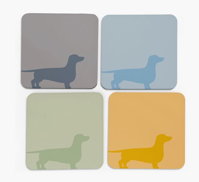 Dachshund Silhouette Coasters 4 pack