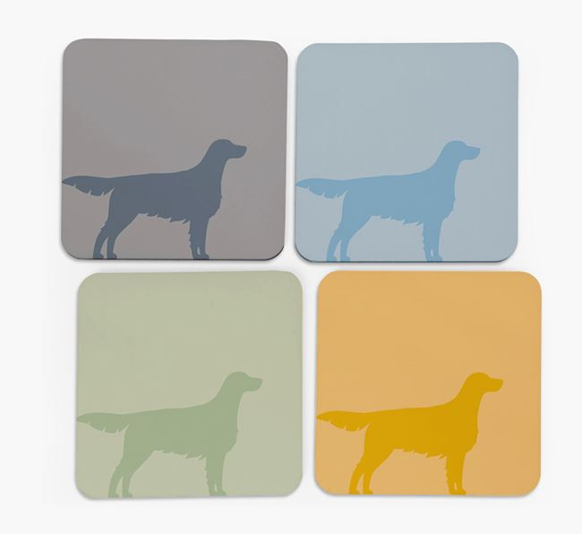 English Setter Silhouette Coasters 4 pack