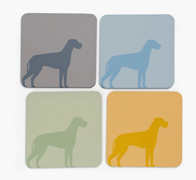 Great Dane Silhouette Coasters 4 pack