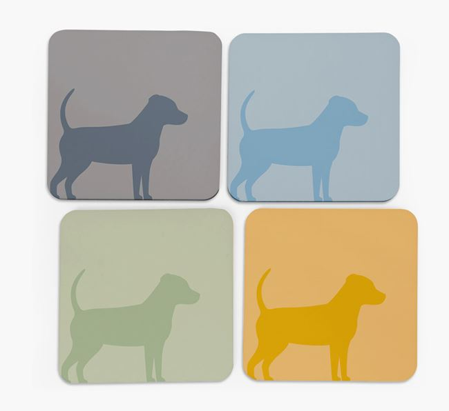 Jack Chi Silhouette Coasters 4 pack