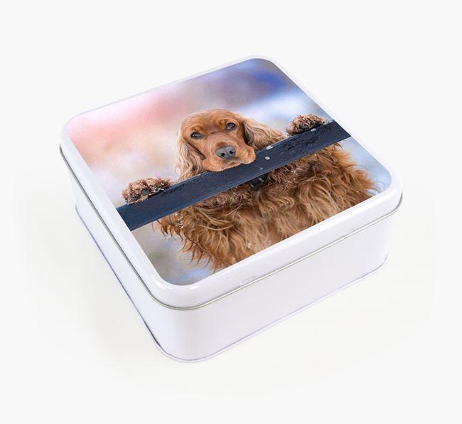 Photo Upload - Personalised Cocker Spaniel Treat Tin