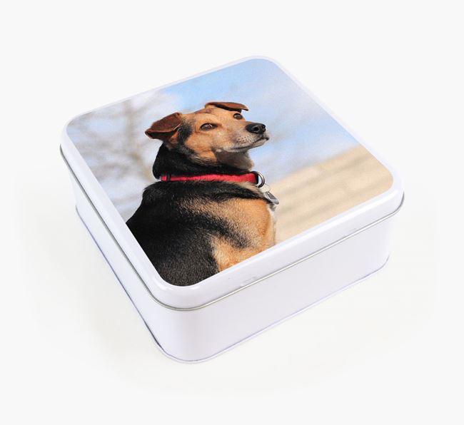 Photo Upload - Personalised Corgi Treat Tin