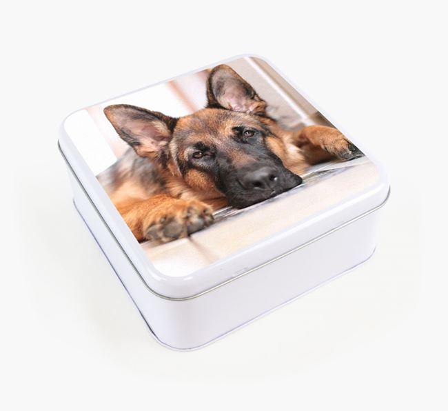 Photo Upload - Personalised German Shepherd Treat Tin