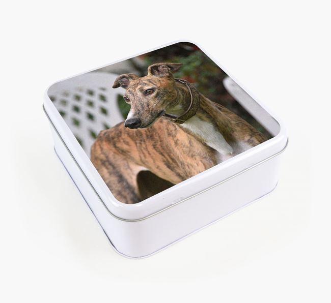 Photo Upload - Personalised Greyhound Treat Tin