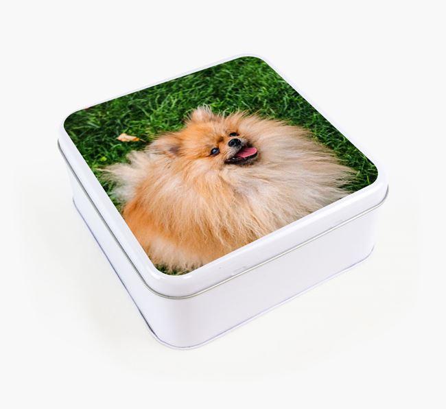 Photo Upload - Personalised Pomeranian Treat Tin