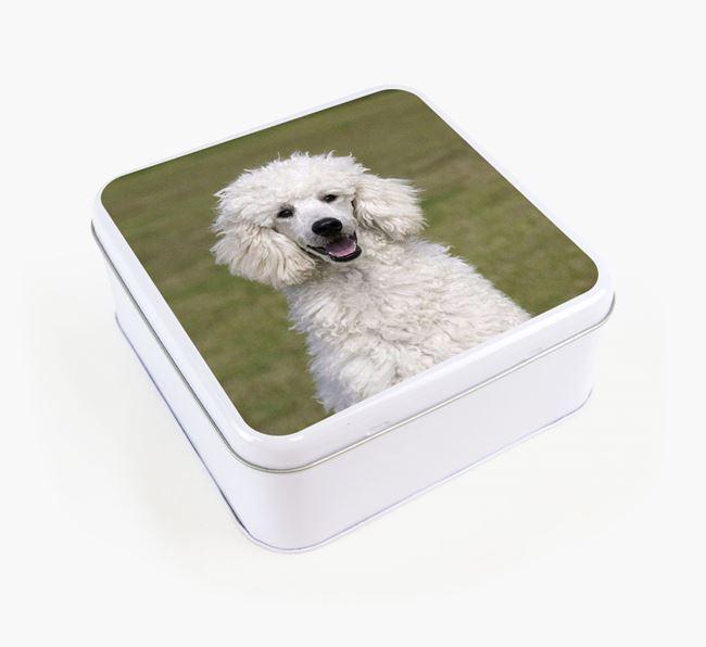 Photo Upload - Personalised Poodle Treat Tin