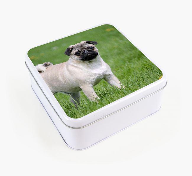 Photo Upload - Personalised Pug Treat Tin