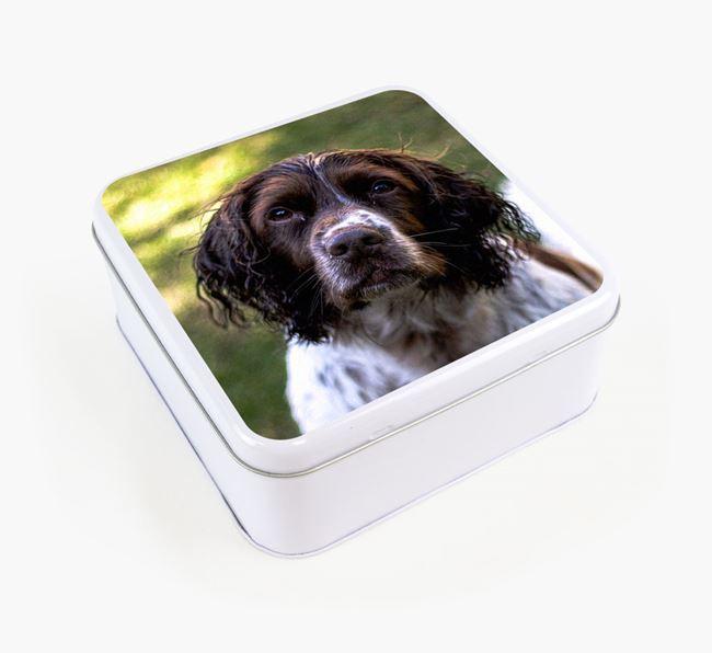 Photo Upload - Personalised Springer Spaniel Treat Tin
