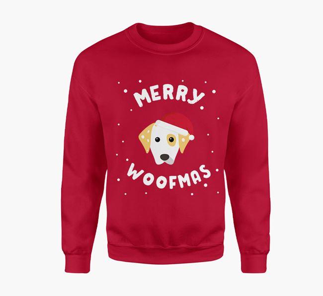 'Merry Woofmas' - Personalised Dalmatian Jumper