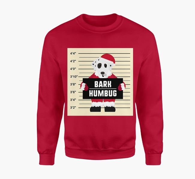 'Bark Humbug' - Personalised Dalmatian Jumper