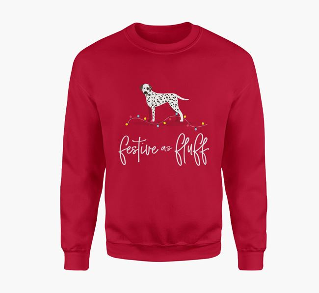 'Festive as Fluff' - Personalised Dalmatian Jumper