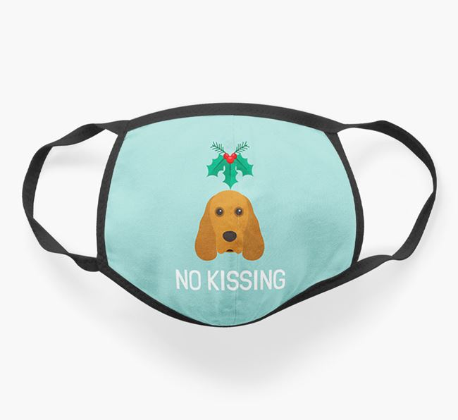 'No Kissing' - Personalised Cocker Spaniel Face Mask