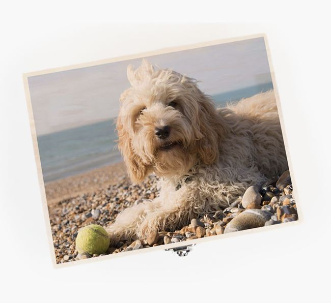 Personalised Photo Upload Wooden Box for your Cockapoo