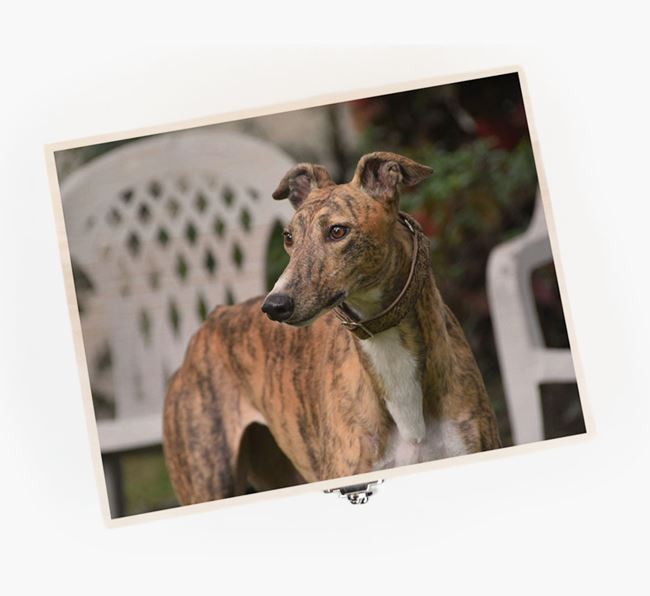 Personalised Photo Upload Wooden Box for your Greyhound