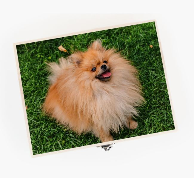 Personalised Photo Upload Wooden Box for your Pomeranian
