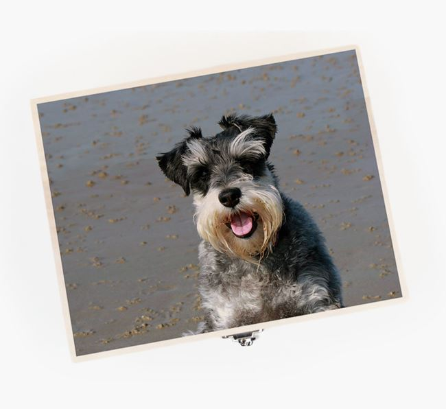 Personalised Photo Upload Wooden Box for your Schnauzer