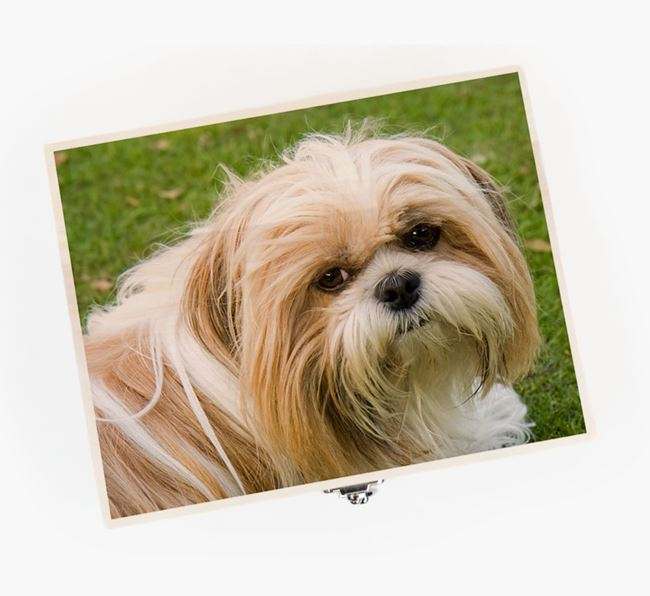 Personalised Photo Upload Wooden Box for your Shih Tzu
