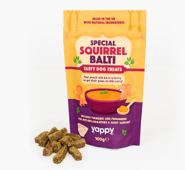 Special Squirrel Balti Dog Treats for your Bassador