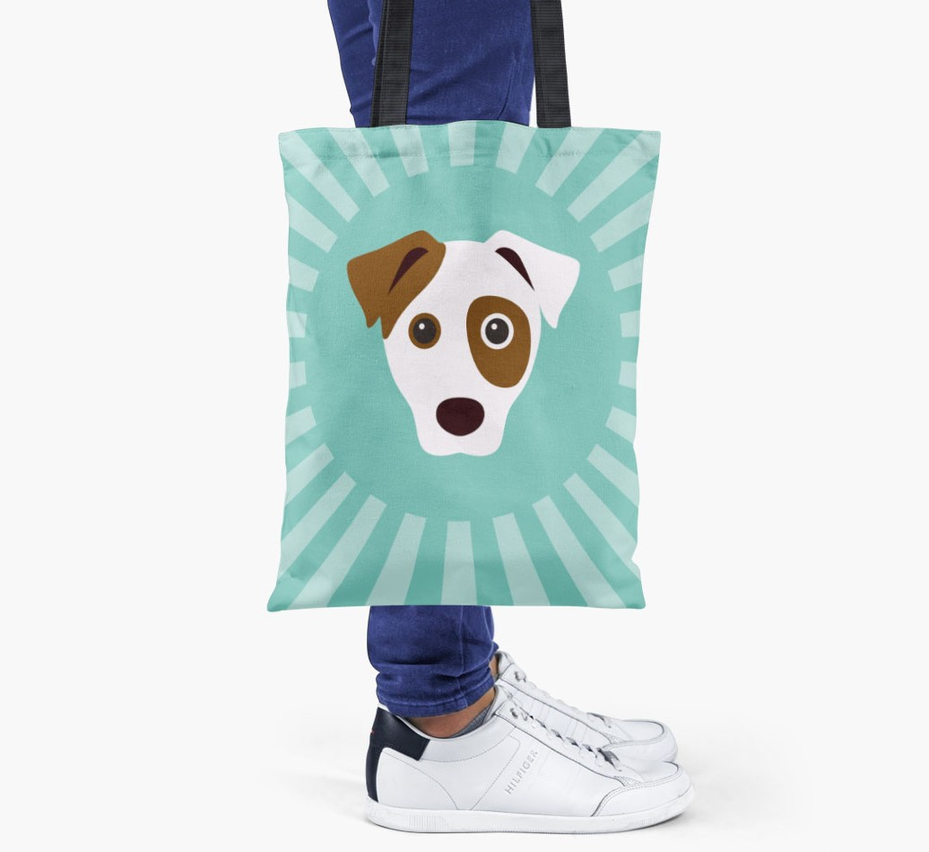 Dog All you need is love {colour} shopper bag held by woman
