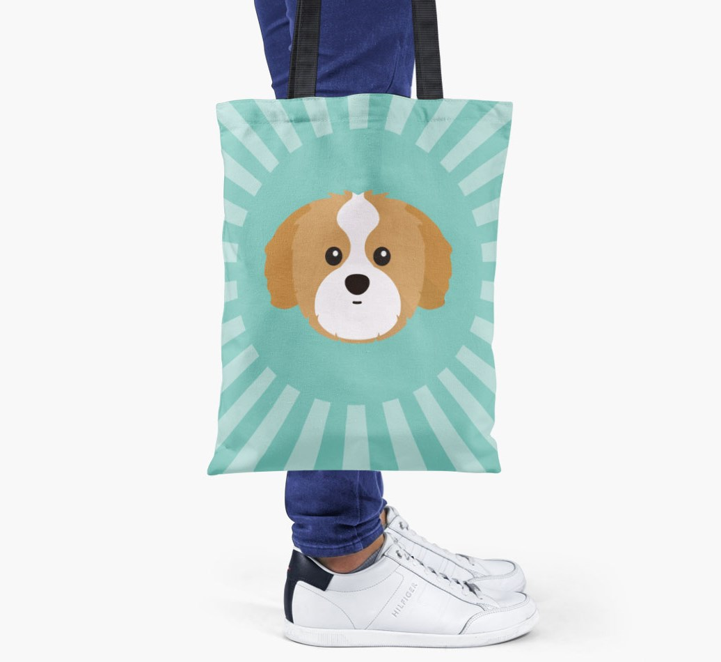 Shih Tzu All you need is love {colour} shopper bag held by woman