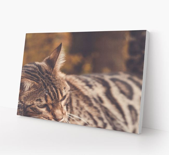 Photo Upload Canvas Print (Landscape) - Personalised for your Bengal