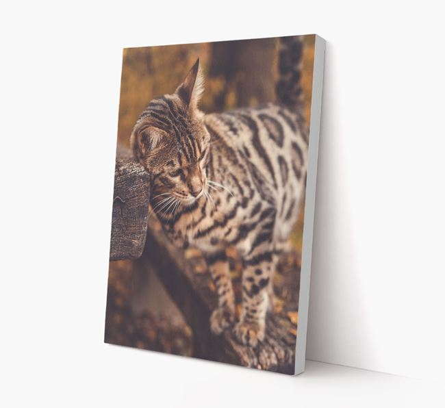 Photo Upload Canvas Print (Portrait) - Personalised for your Bengal