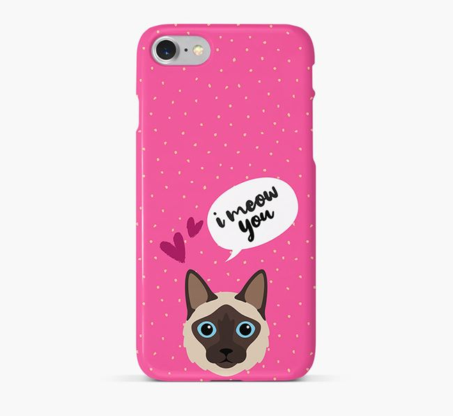 'I Meow You!' - Personalized Balinese Phone Case