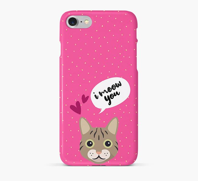 'I Meow You!' - Personalized Cat Phone Case