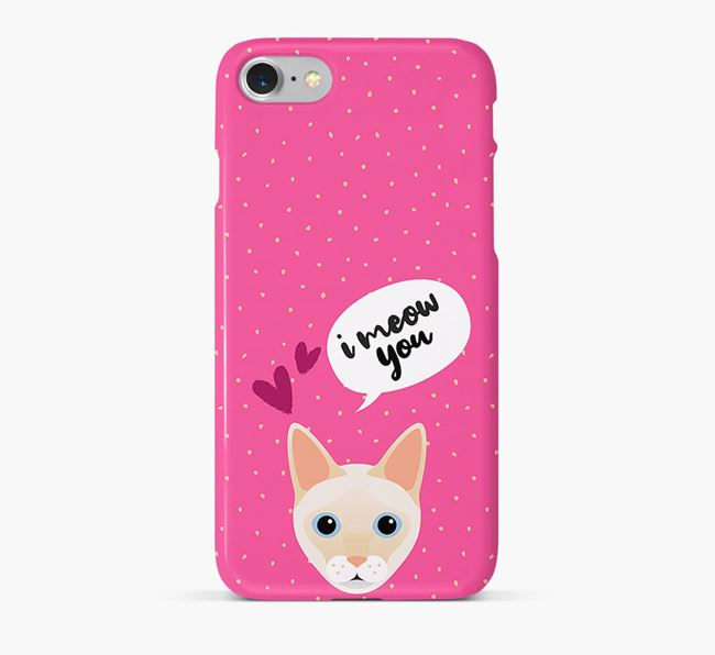 'I Meow You!' - Personalized Siamese Phone Case