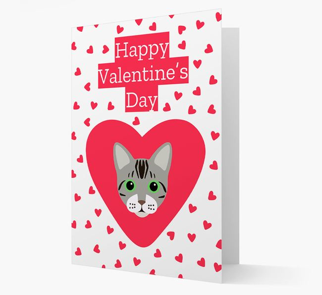 'Happy Valentine's Day'- Personalized Bengal Card