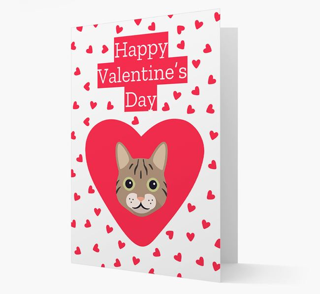 'Happy Valentine's Day'- Personalised Cat Card