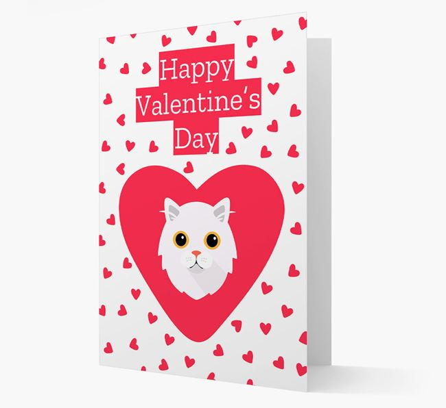 'Happy Valentine's Day'- Personalized Cat Card