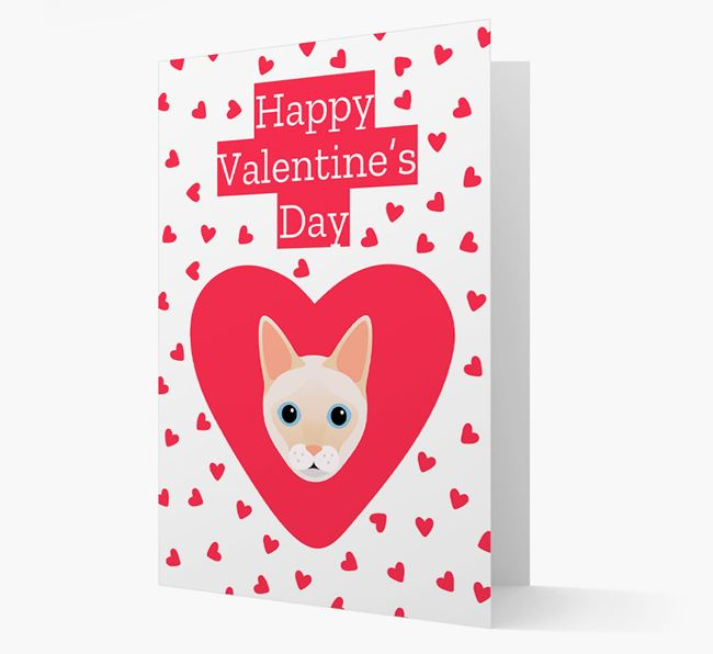 'Happy Valentine's Day'- Personalised Siamese Card