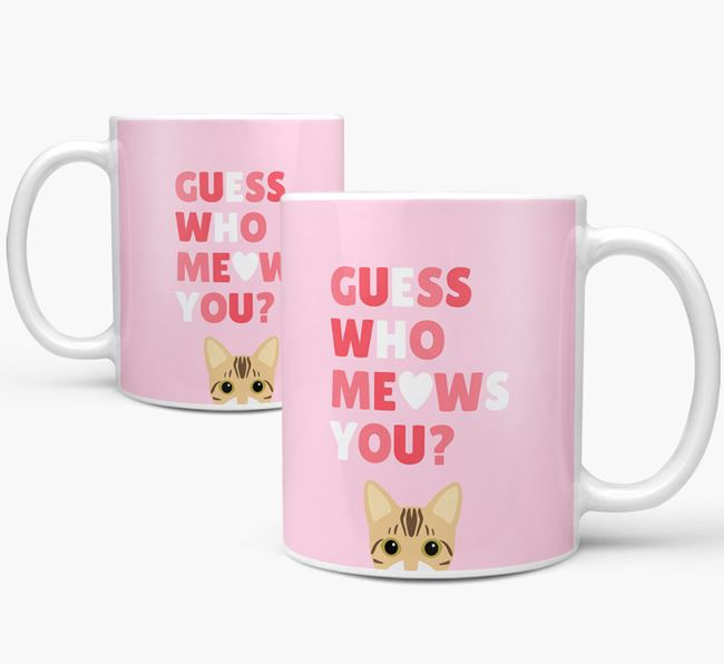 'Guess Who Meows You' - Personalized Bengal Mug