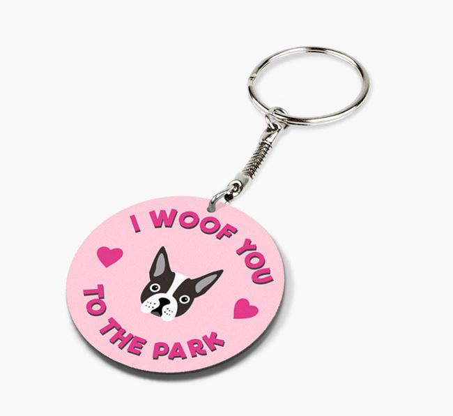 'To the Park and Back' - Personalized Dog Double-Sided Keyring