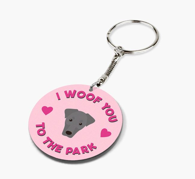 'To the Park and Back' - Personalized Dobermann Double-Sided Keyring