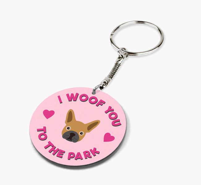 'To the Park and Back' - Personalized French Bulldog Double-Sided Keyring