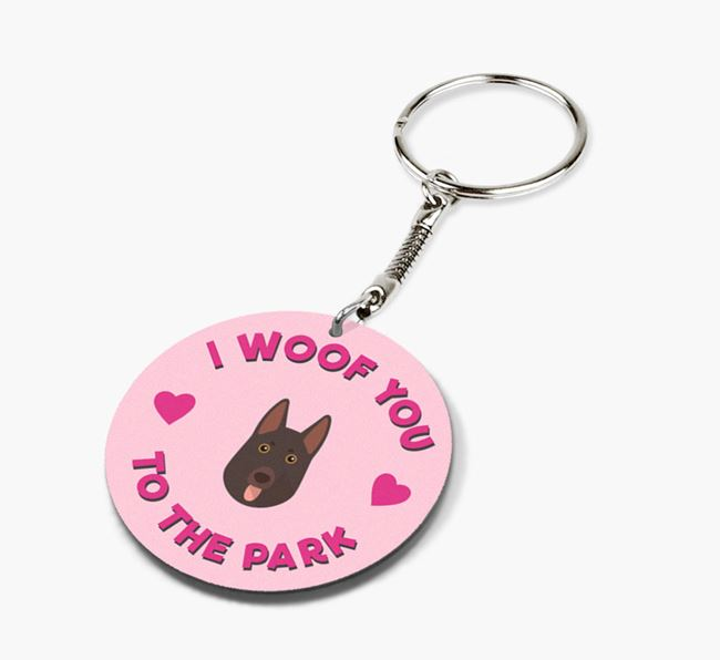 'To the Park and Back' - Personalized German Shepherd Double-Sided Keyring