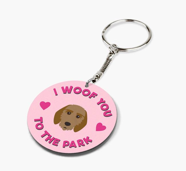 'To the Park and Back' - Personalized Griffon Fauve De Bretagne Double-Sided Keyring
