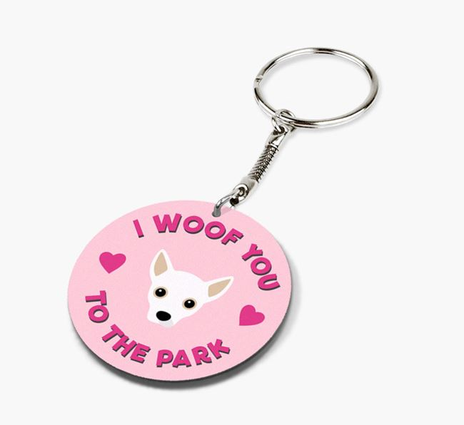 'To the Park and Back' - Personalized Jackahuahua Double-Sided Keyring