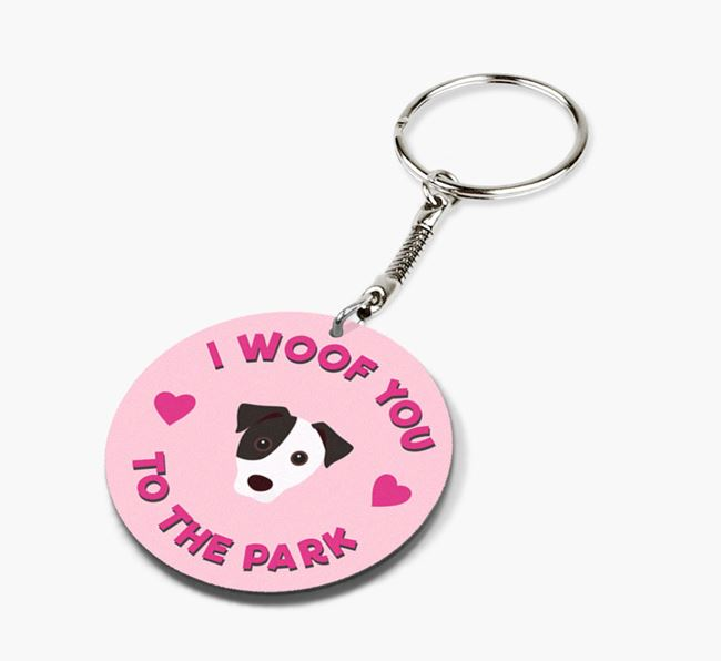 'To the Park and Back' - Personalized Jack Russell Terrier Double-Sided Keyring