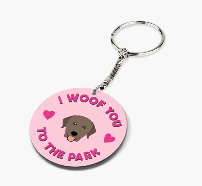 'To the Park and Back' - Personalized Labrador Retriever Double-Sided Keyring