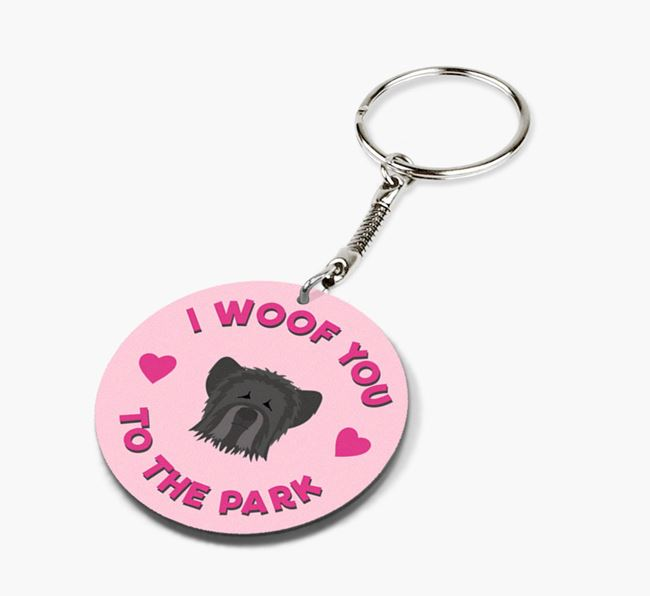 'To the Park and Back' - Personalized Skye Terrier Double-Sided Keyring