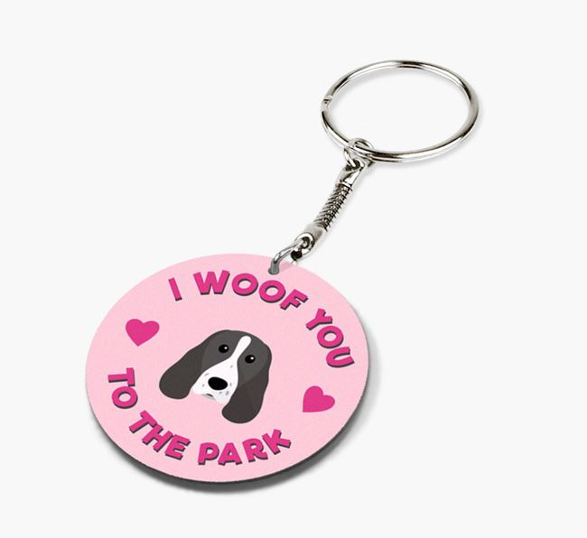 'To the Park and Back' - Personalized Springer Spaniel Double-Sided Keyring