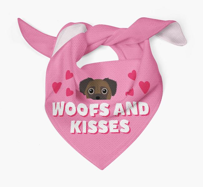 'Woofs and Kisses' - Personalised Chug Bandana
