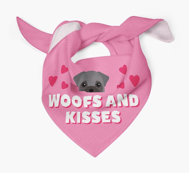 'Woofs and Kisses' - Personalised Frug Bandana