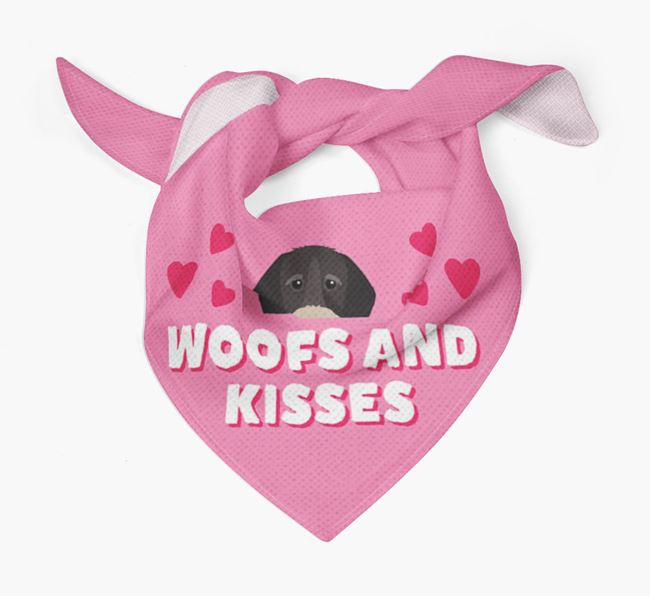 'Woofs and Kisses' - Personalised German Wirehaired Pointer Bandana