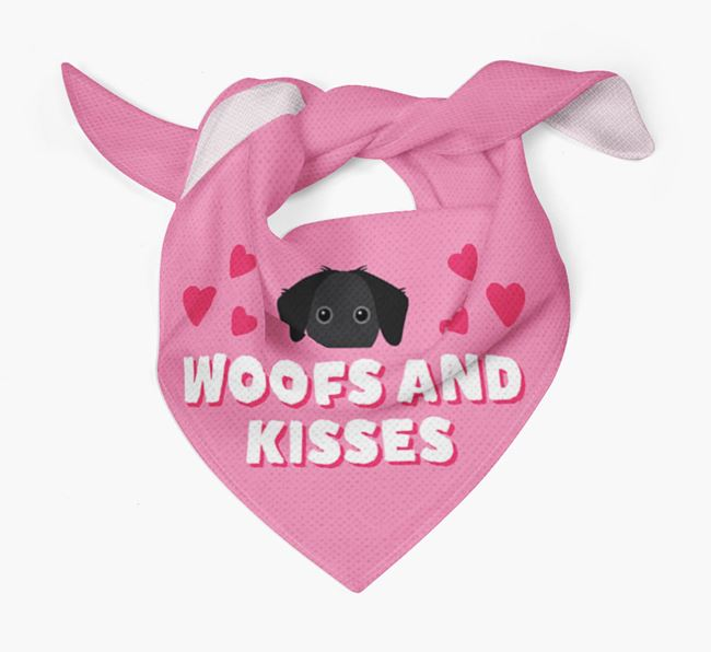 'Woofs and Kisses' - Personalised Jack-A-Bee Bandana