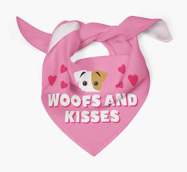 'Woofs and Kisses' - Personalized Jack Russell Terrier Bandana